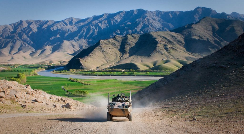 """""""ASLAV frightens Taliban, protects soldiers [Image 1 of 4]"""" by DVIDSHUB is licensed under CC BY 2.0"""