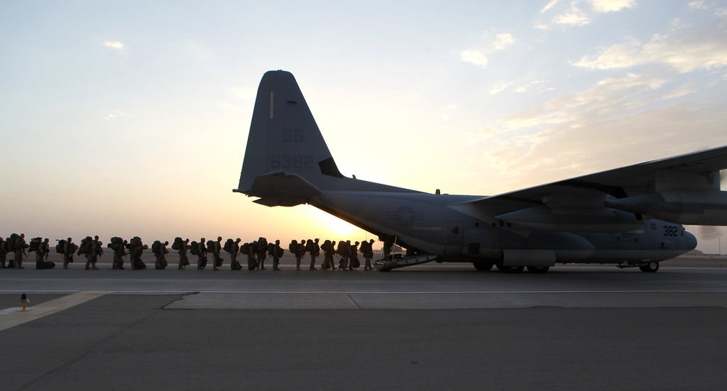 """""""Marines complete operations in Afghanistan, depart Helmand province [Image 12 of 12]"""" by DVIDSHUB is licensed under CC BY 2.0"""